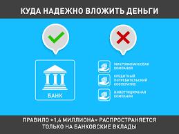 АСВ вернет вкладчикам ликвидированного банка до миллиона рублей Застрахованы государством только денежные средства размещенные в банке на основании договора банковского вклада или договора банковского счета