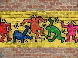 free logo graffiti brick wall mock up
