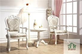 wooden round table and chair set two small for bedroom