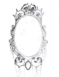 hand holding mirror drawing. Vintage Hand Mirror Drawing Via. Frame Tattoo Designs Holding A