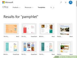 How To Write A Pamphlet On Word How To Make A Pamphlet Wikihow