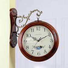 large wall clocks double sided wooden