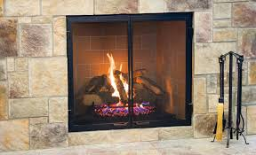 best black metal and glass fireplace screens with door wrought iron screen cover 48 inch large