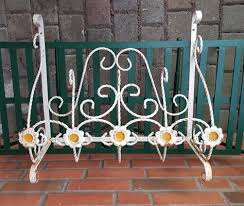 wrought iron wall mounted planter