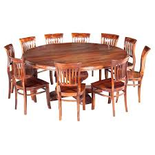 round table and chairs drafting ikea sierra large rustic solid wood dining chair set