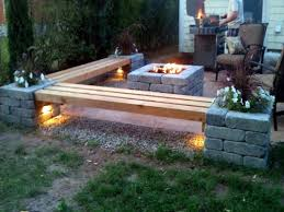 deck patio with fire pit. Fire Pit Patios Patio With Bench Ideas Stone Interior Designs Deck Y