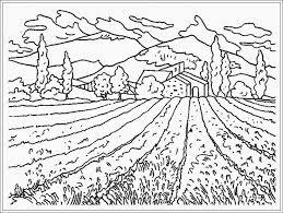 mewarnai gambar pemandangan gunung dan sawah dari anakcemerlang mewarnai gambar dan