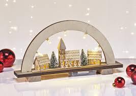 Led Lichterbogen Schwibbogen Beleuchtetes Dorf Fensterdeko Weihnachten