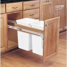 pullout trash can. Perfect Trash RevAShelf 1775 In H X 12 W 245 In Pullout Trash Can H