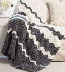Bernat Blanket Yarn Patterns Knit Cool Bernat Soft Boucle Ripple Blanket Knit Pattern Free Easy