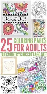 Get 25 FREE coloring pages for adults that you can print from home ...