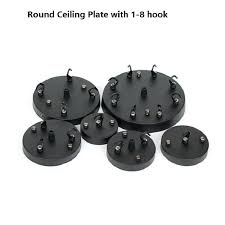 round ceiling plate lamp circle with hooks multi chandeliers base accessories for rope pendant