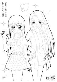 Coloring Pages Anime Chibi Cute Girl Page Pdf Free Download Porongurup
