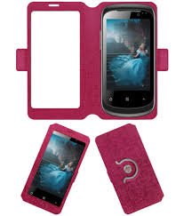 Celkon A9+ Flip Cover by ACM - Pink ...