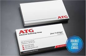 2 Sided Business Cards Gallery Magnificent Double Sided Business