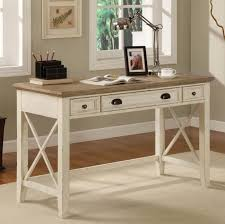 furniture vintage white writing desk with wooden tabletop and modern desk lamp design white