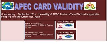 Apec Card Validity
