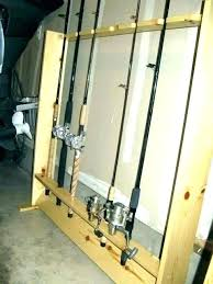 fishing pole storage garage stand rods rack holder ideas pol fishing tackle