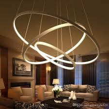 modern circular ring pendant lights 3 2 1 circle rings acrylic aluminum led lighting ceiling lamp fixtures for living room dining room pendant
