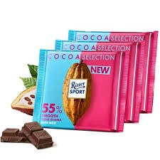 Ritter Sport <b>Cocoa</b> Selection <b>Milk Chocolate</b> with 55% Smooth from ...