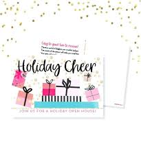Business Holiday Open House Invitation Wording Templates
