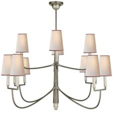 Farlane Large Chandelier In Antique Nickel With Natural Paper Shades  $1,999.00