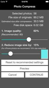 how to reduce jpeg file size photo compress shrink pics on the app store