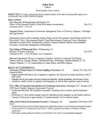 Coursework On Resume Template Gorgeous Career Services Sample Resumes For Graduate Students And Postdocs