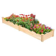 outdoor 2x8ft raised elevated garden