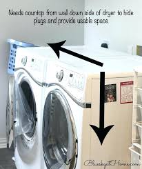 laundry room project countertop clothes washer electric install