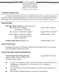 Resume Examples Entry Level Gorgeous Career Objective Resume Marketing Executive Examples Of Objectives