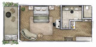 internal area 45 m2 luxury hotel room layout17 room