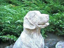 dog garden statue. Lab Garden Statue Ornaments Golden Retriever Concrete Dog Cast In Stone Cement Pet Figures .