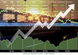 Transportation Index Chart Stock Financial Index Successful Investment On Stock Photo