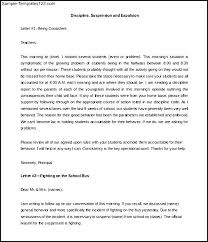 Free Prrintable Parent Discipline Letter Template Example