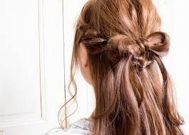 りぼんハーフアップの髪型ヘアスタイル ヘアドレ