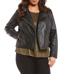 michael michael kors plus size lambskin leather moto jacket