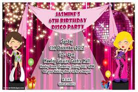 Childrens Disco Invitations Kids Disco Party Invitation Templates