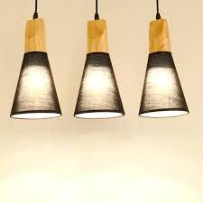 fabric pendant lights wood modern 1 light 3 lights pendant lights with fabric shade for dining fabric pendant lights