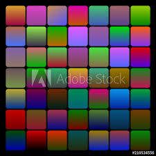 Set Of Two Coloured Dark Gradients Various Patterns