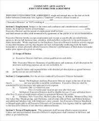 Executive Compensation Agreement Template Employment Agreement ...