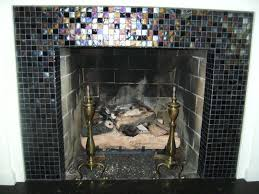 glass tile fireplaces glass tile fireplace surround design ideas idolza