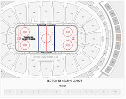 Msg Ny Rangers Seating Chart New York Rangers Madison Square Garden Seating Chart
