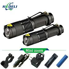 Mini Portable <b>L2 Led</b> flashlight Zoom Torch work Flash <b>light</b> ...