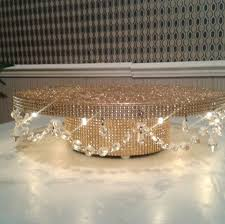 diy crystal chandelier fresh diamante crystal garland light up wedding cake stand pedestal gold