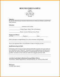 Resume Form Sociology Research Paperle Blank Resume Form For Job Application 75