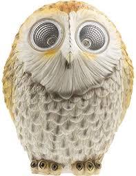 Garden <b>Lighting Solar OWL LED Lights</b> auto Sensor 29cm Height ...