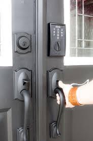 black front door handles. Black Double Front Doors With Hardware And Red Wreaths. Opening Door Handles E