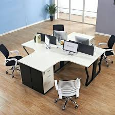 glass office furniture. Modular Office Furniture Simple Melamine T Shape Desk Glass Partition