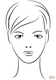 Girl Face Coloring Page How To Draw Boy And Girl Face Coloring Pages